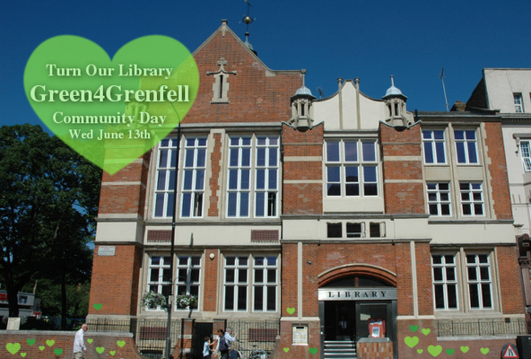Turn our Library #Green4Grenfell
